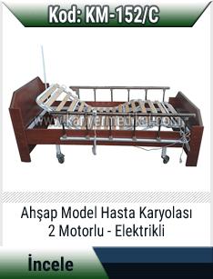 2 Motorlu Elektrikli Ahşap Hasta Karyolası