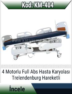 4 Motorlu Elektrikli Hasta Karyolası