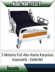Elektrikli 3 motorlu full abs hasta karyolası
