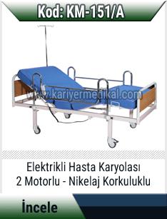 2 Motorlu Elektrikli Hasta Karyolası