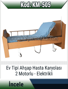 2 Motorlu Ev Tipi Hasta Yatağı