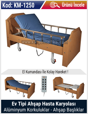 Ev Tipi Ahşap Hasta Yatağı