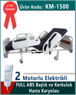 Full Abs model 2 motorlu hasta karyolası
