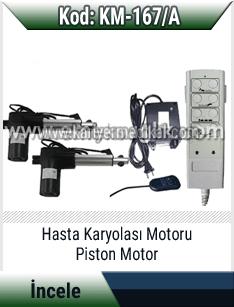 Hasta karyolası için piston motor