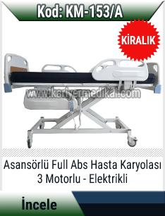 Kiralık 3 motorlu full abs hasta karyolası