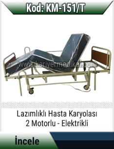 Lazımlıklı elektrikli hasta karyolası